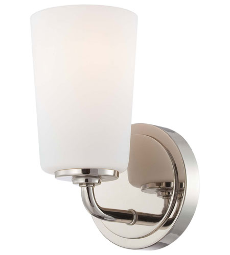 Minka-Lavery Modern Continental 1 Light Bath in Polished Nickel 6611-613 photo