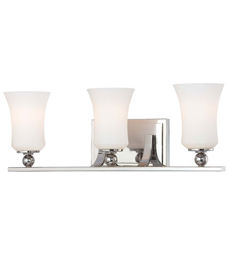 Minka-Lavery 6623-613 Ameswood 3 Light 22 inch Polished Nickel Bath Wall Light photo