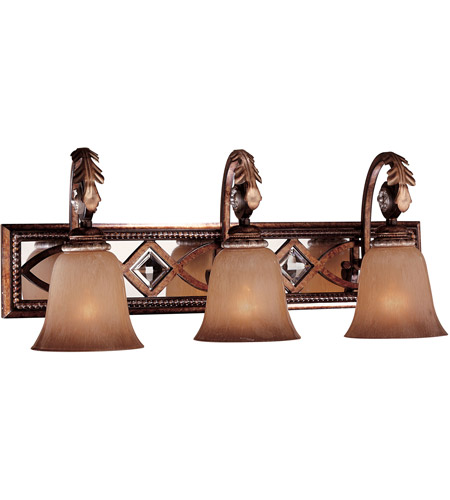 Minka-Lavery 6743-206 Aston Court 3 Light 26 inch Aston Court Bronze Bath Bar Wall Light photo
