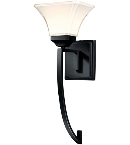 Minka-Lavery Agilis 1 Light Sconce in Black 6810-66 photo