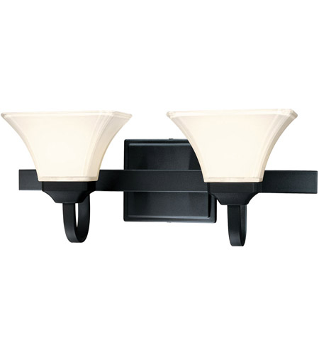 Minka-Lavery 6812-66 Agilis 2 Light 21 inch Black Bath Bar Wall Light photo