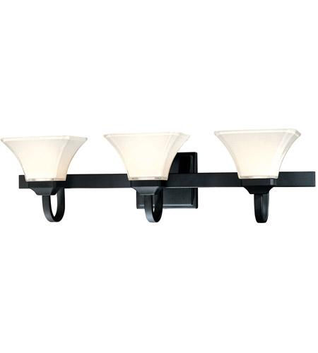 Minka lavery 6813 66 agilis 3 light 32 inch black bath bar - Chapter 3 light bar bathroom light ...