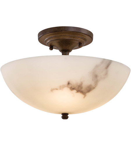 Minka-Lavery 686-14 Calavera 3 Light 12 inch Nutmeg Semi Flush Mount Ceiling Light photo