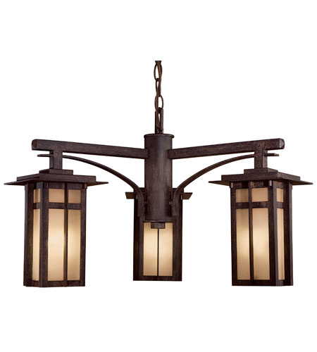 The Great Outdoors by Minka Delancy 3 Light Outdoor Lighting in Iron Oxide 71100-A357-PL photo