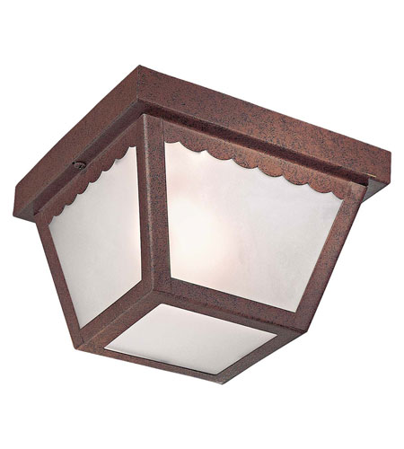 The Great Outdoors by Minka Signature 1 Light Flushmount in Antique Bronze 71154-91-PL photo