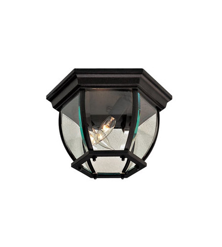 Minka-Lavery 71174-66 Wyndmere 3 Light 11 inch Black Outdoor Flush Mount Lantern photo