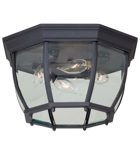 Minka-Lavery 71175-66 Signature 4 Light 13 inch Black Outdoor Flushmount photo