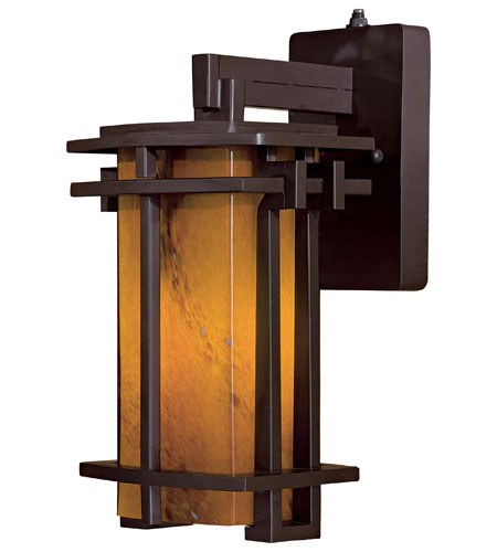 Minka-Lavery Lugarno Square 1 Light Wall Lamp in Dorian Bronze 72011-A615B-PL photo