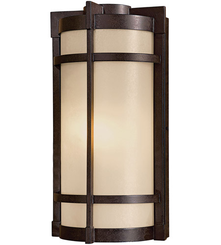 Minka-Lavery 72021-A179-PL Andrita Court 1 Light 17 inch Textured French Bronze Outdoor Pocket Lantern photo
