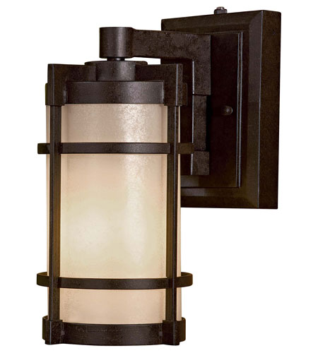 The Great Outdoors by Minka Andrita Court 1 Light Wall Lamp in Textured French Bronze 72022-A179-PL photo