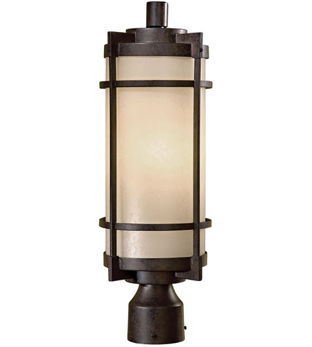 Minka-Lavery 72026-A179-PL Andrita Court 1 Light 20 inch Textured French Bronze Outdoor Post Mount photo
