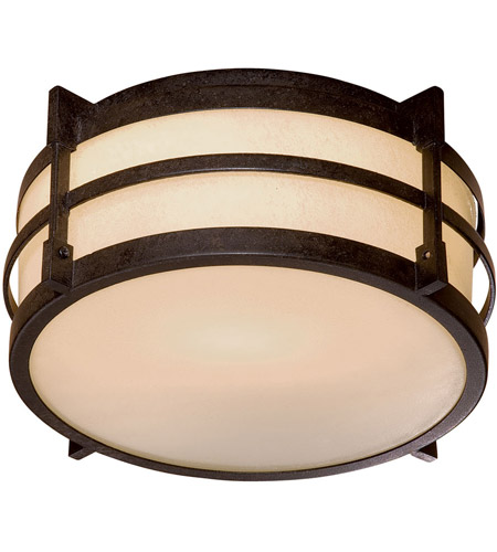 Minka-Lavery 72029-A179-PL Andrita Court 1 Light 12 inch Textured French Bronze Outdoor Flush Mount photo