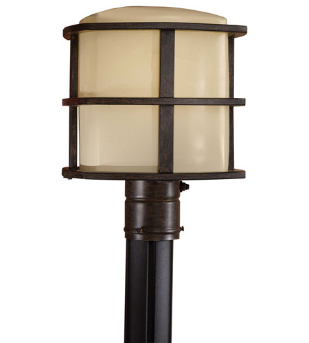 Minka-Lavery 72136-357-PL Signature 1 Light 13 inch Iron Oxide Post Light photo