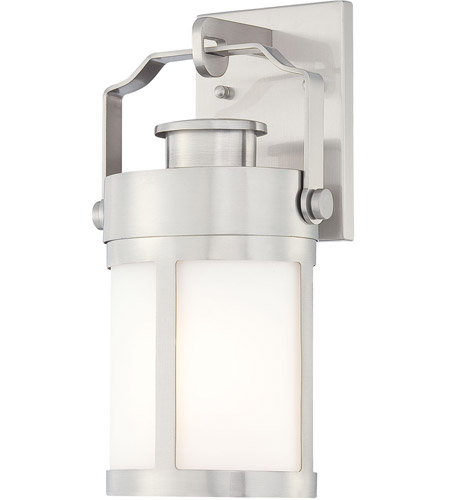 Minka-Lavery 72191-144 Vista Delmar 1 Light 13 inch Brushed Stainless Steel Outdoor Wall Lantern photo