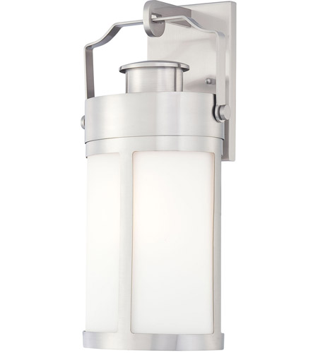 Minka-Lavery 72192-144 Vista Delmar 1 Light 19 inch Brushed Stainless Steel Outdoor Wall Lantern photo