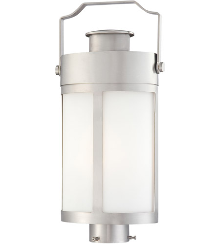 The Great Outdoors by Minka Vista Delmar 1 Light Outdoor Pocket Lantern in Brushed Stainless Steel 72196-144 photo