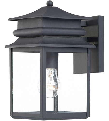 The Great Outdoors by Minka Winward Manor 1 Light Outdoor Wall Lantern in Black 72281-66 photo