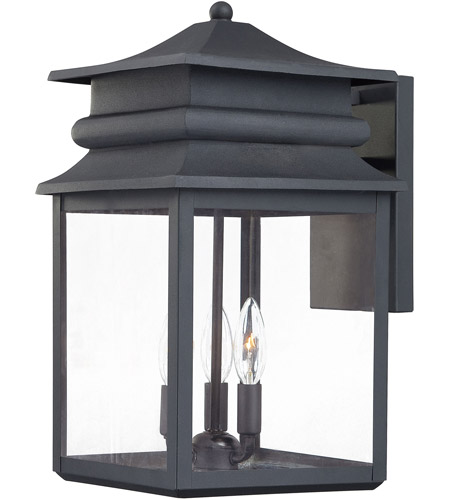 Minka-Lavery 72282-66 Winward Manor 3 Light 16 inch Black Outdoor Wall Lantern photo
