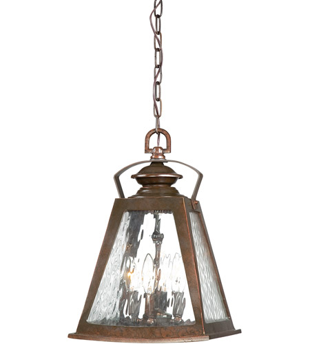 Minka-Lavery 72294-291 Oxford Road 4 Light 11 inch Architectual Bronze/Copper Highlights Outdoor Chain Hung Lantern photo