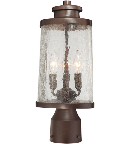 Minka-Lavery 72336-291 Travessa 3 Light 16 inch Architectual Bronze/Copper Highlights Outdoor Post Mount Lantern photo