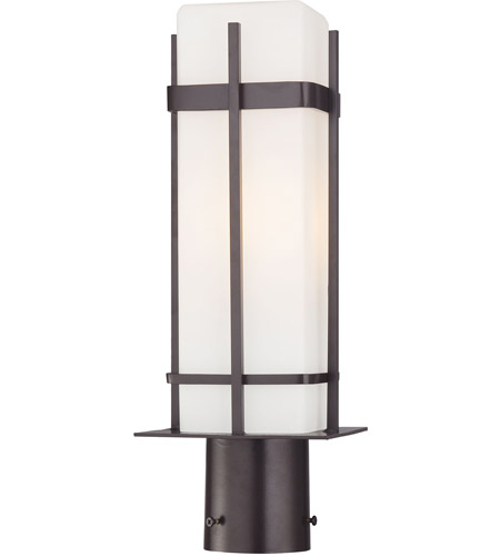 Minka-Lavery 72356-615B-PL Sterling Heights 1 Light 17 inch Dorian Bronze Post Light photo