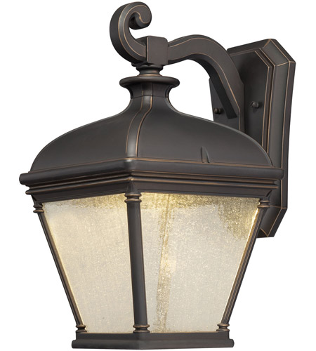 Minka-Lavery 72393-143C Lauriston Manor LED 16 inch Oil Rubbed Bronze/Gold Outdoor Wall Mount Lantern photo