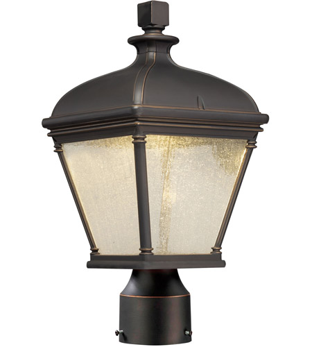 The Great Outdoors by Minka Lauriston Manor 1 Light Post Light in Oil Rubbed Bronze w/Gold Highlights 72396-143C photo