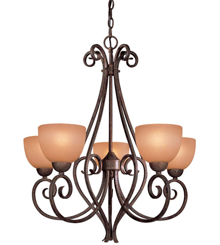 Minka-Lavery 725-355 Caspian 5 Light 26 inch Golden Bronze Chandelier Ceiling Light photo