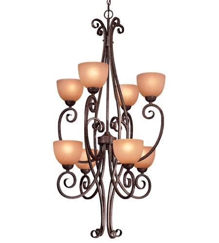 Minka-Lavery Caspian 8 Light Pendant in Golden Bronze 730-355 photo