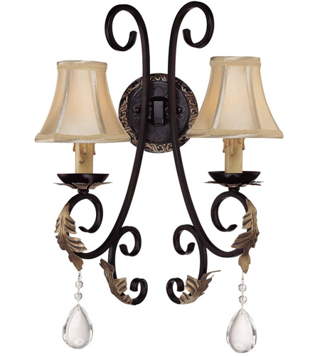 Minka-Lavery Bellasera 2 Light Sconce in Castlewood Walnut w/Silver Highlights 772-301 photo