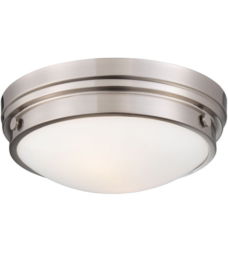 Minka-Lavery 823-84 Signature 2 Light 13 inch Brushed Nickel Flush Mount Ceiling Light photo