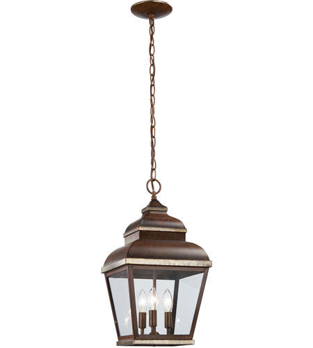The Great Outdoors by Minka Mossoro 3 Light Hanging in Mossoro Walnut w/Silver Highlights 8264-161 photo