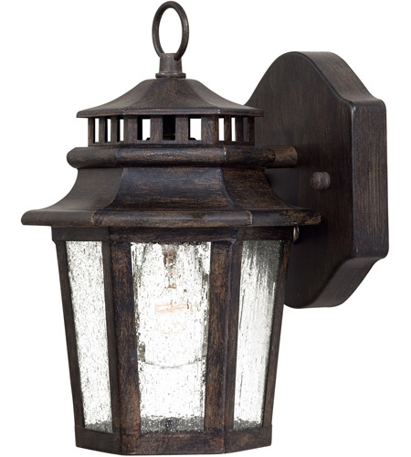 Minka Lavery 8271 A357 Wickford Bay 1 Light 11 Inch Iron Oxide Outdoor Wall Lamp In Incandescent