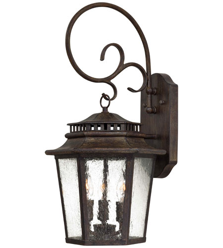 The Great Outdoors by Minka Wickford Bay 3 Light Wall Lamp in Iron Oxide 8273-A357 photo