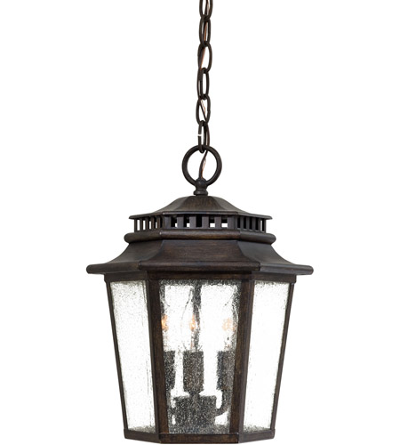 Minka Lavery 8274 A357 Wickford Bay 3 Light 10 Inch Iron Oxide Outdoor Lighting In Incandescent