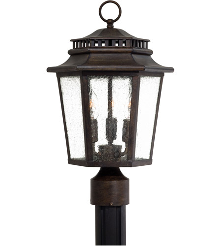 Minka Lavery 8276 A357 Wickford Bay 3 Light 18 Inch Iron Oxide Post In Incandescent
