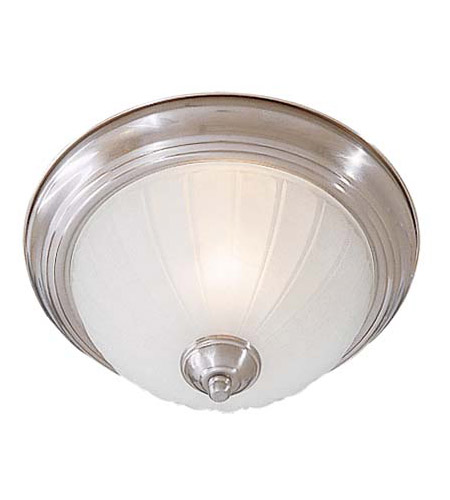 Minka-Lavery 828-84-PL Signature 1 Light 11 inch Brushed Nickel Flushmount Ceiling Light in GU24 photo