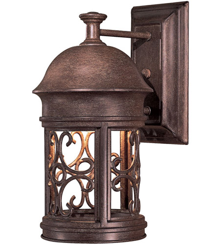 Minka-Lavery 8281-A61 Sage Ridge 1 Light 13 inch Vintage Rust Outdoor Wall Mount Lantern photo