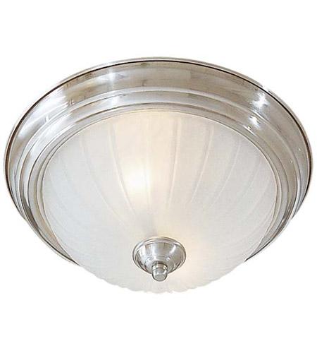 Minka-Lavery 829-84 Signature 2 Light 13 inch Brushed Nickel Flush Mount Ceiling Light photo