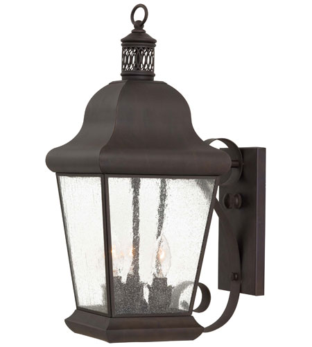 Minka-Lavery 8552-57 Glen Allen 3 Light 20 inch Roman Bronze Outdoor Wall Bracket photo