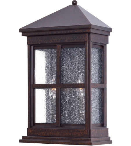 Minka-Lavery 8560-51 Berkeley 2 Light 18 inch Rust Chemical Outdoor Pocket Lantern photo