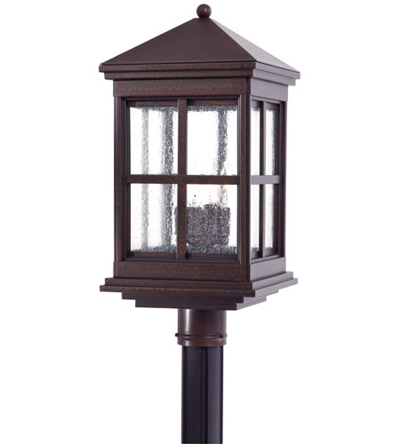 The Great Outdoors by Minka Berkeley 4 Light Post Mount in Rust 8566-51 photo