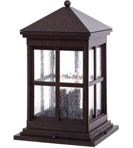 Minka-Lavery 8567-51 Berkeley 4 Light 19 inch Rust Chemical Outdoor Pier Mount Lantern photo