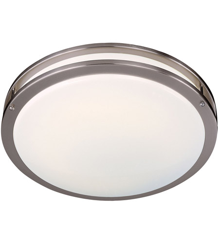 Minka-Lavery 860-84-PL Signature 2 Light 16 inch Brushed Nickel Flush Mount Ceiling Light photo
