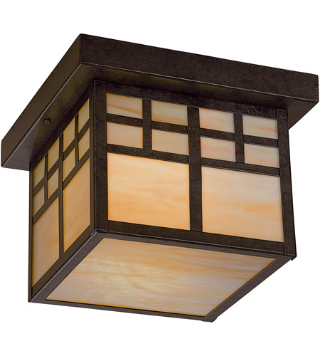 Minka-Lavery 8609-A179-PL Scottsdale 1 Light 10 inch Textured French Bronze Outdoor Flush Mount  photo