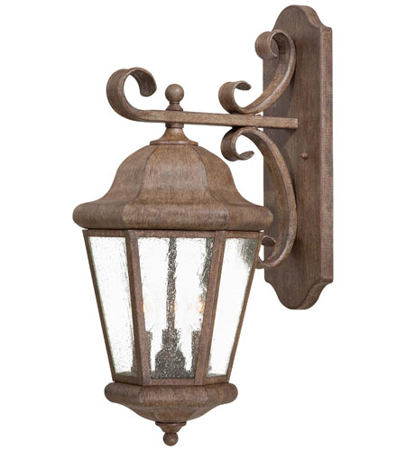 The Great Outdoors by Minka Taylor Court 3 Light Wall Lamp in Vintage Rust 8613-A61 photo