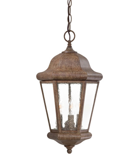The Great Outdoors by Minka Taylor Court 3 Light Outdoor Lighting in Vintage Rust 8614-A61 photo