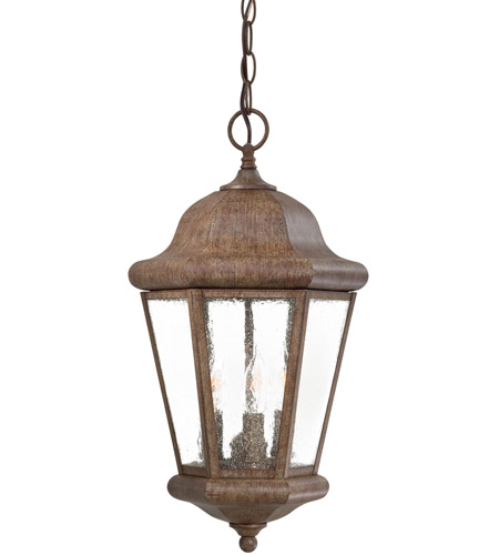 Minka-Lavery 8614-A61 Taylor Court 3 Light 10 inch Vintage Rust Outdoor Chain Hung Lantern photo