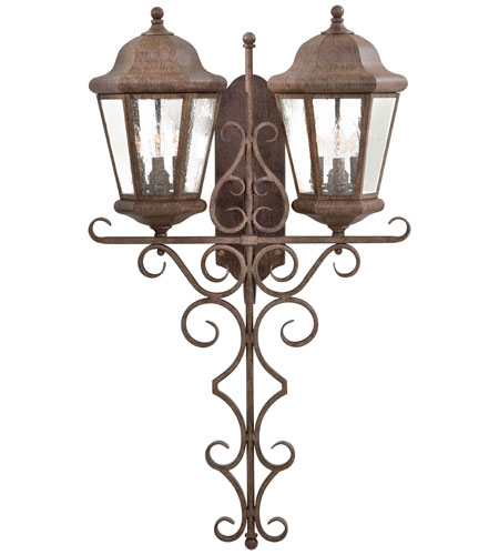 Minka-Lavery 8618-61 Taylor Court 6 Light 40 inch Vintage Rust Outdoor Wall photo