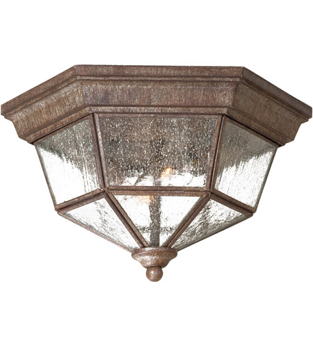 The Great Outdoors by Minka Taylor Court 2 Light Flushmount in Vintage Rust 8619-A61 photo